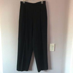 Vintage black St. John wool high waisted pants